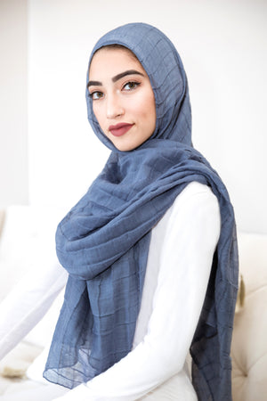 All Boxed Up Light Hijab-Denim