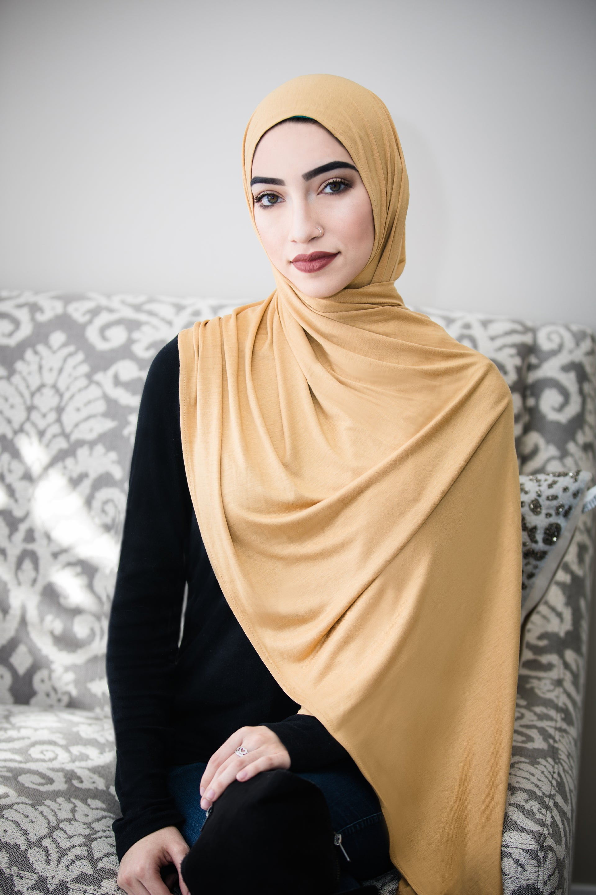 Luxury Jersey Hijab-Buttercream