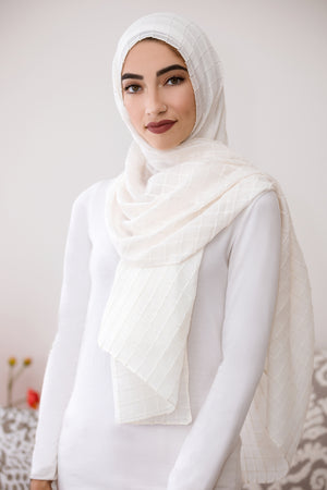 All Boxed Up Light Hijab- Off White