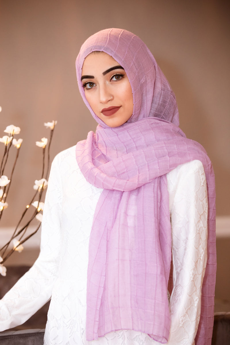 All Boxed Up Light Hijab-Lilac