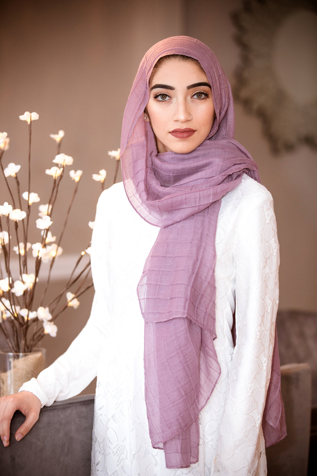 All Boxed Up Light Hijab-Lavender