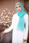 All Boxed Up Light Hijab-Teal