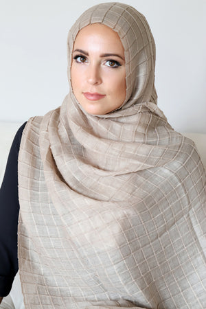 All Boxed Up Light Hijab-Taupe