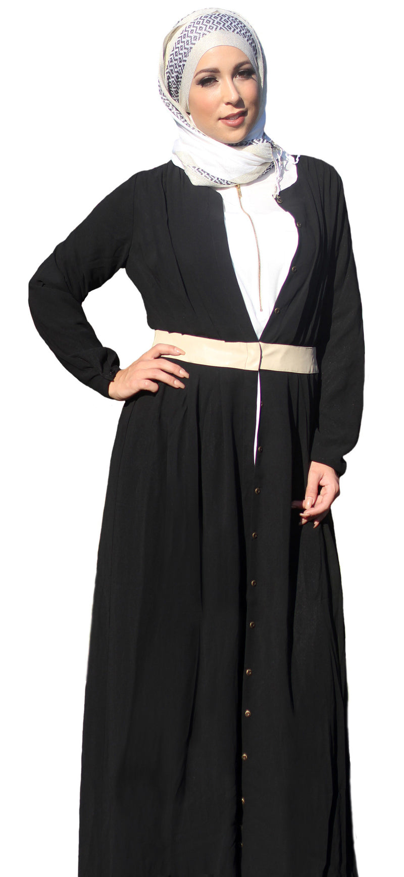 Midnight Button Up Abaya