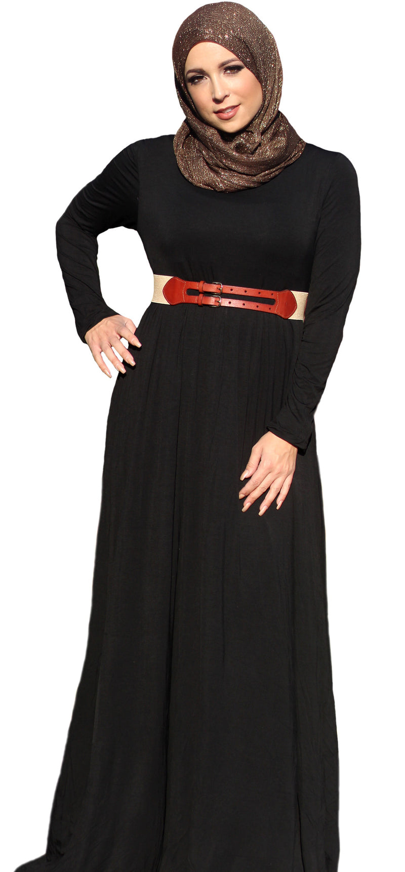 Black Essential Maxi Dress