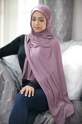 Basic Jersey Hijab-Dusty Plum