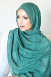 Gold Edge Hijab-Green