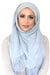 Lace Edge Light Hijab-Gray
