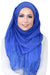 Lace Edge Light Hijab-Royal Blue