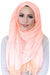 Lace Edge Light Hijab-Peach
