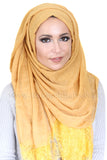 Lace Edge Light Hijab-Mustard