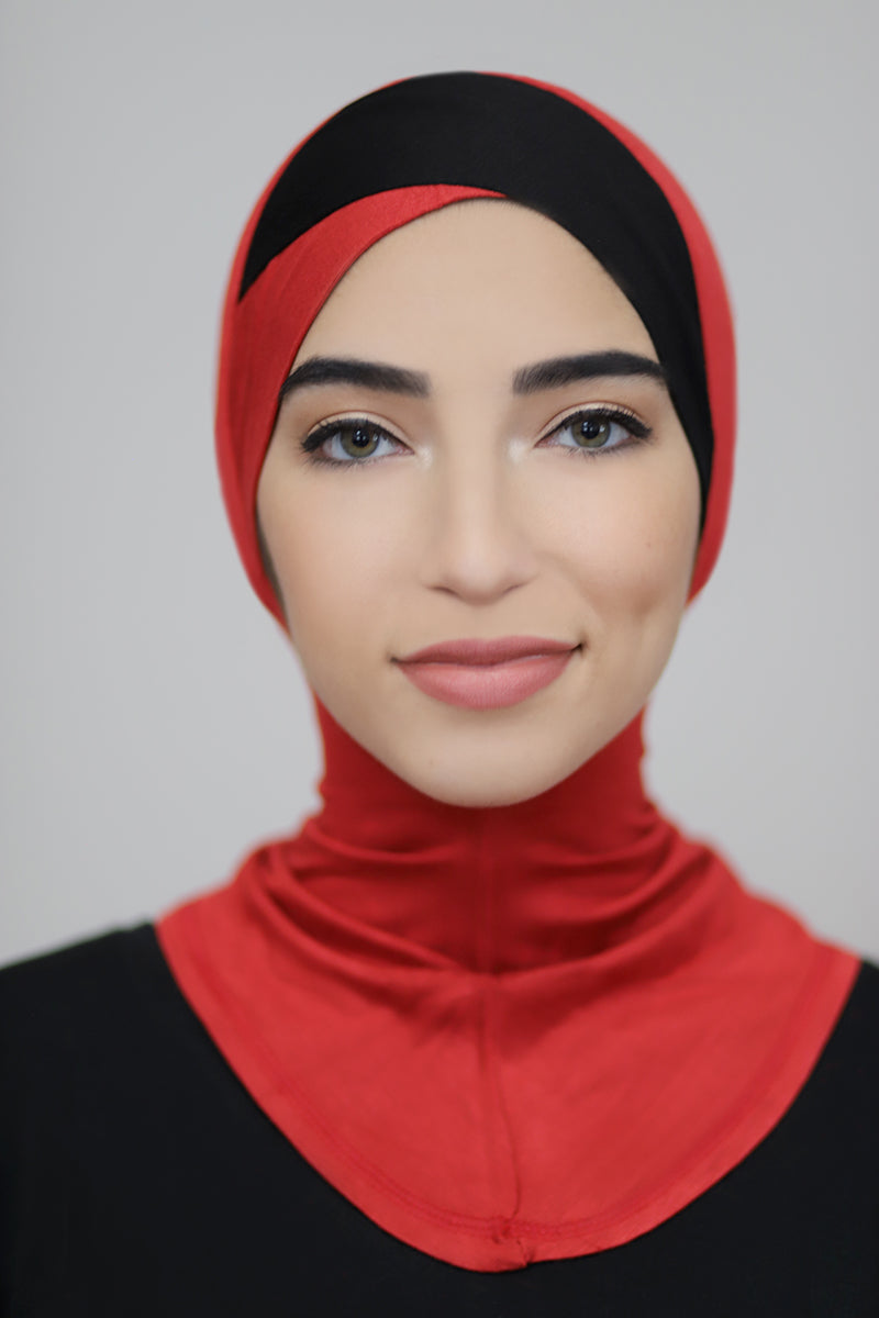 Criss Cross Ninja Underscarf-Red Black