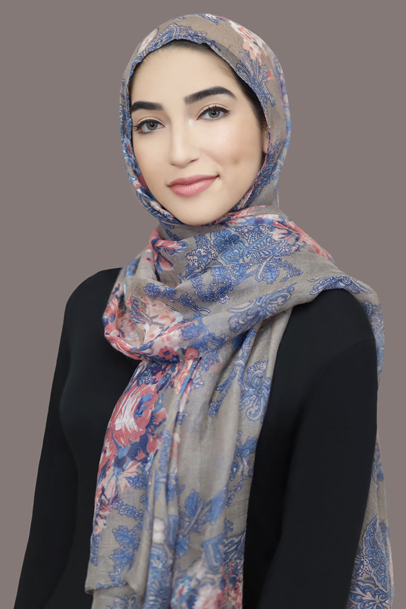 Distant Dreams Viscose Hijab-Gray