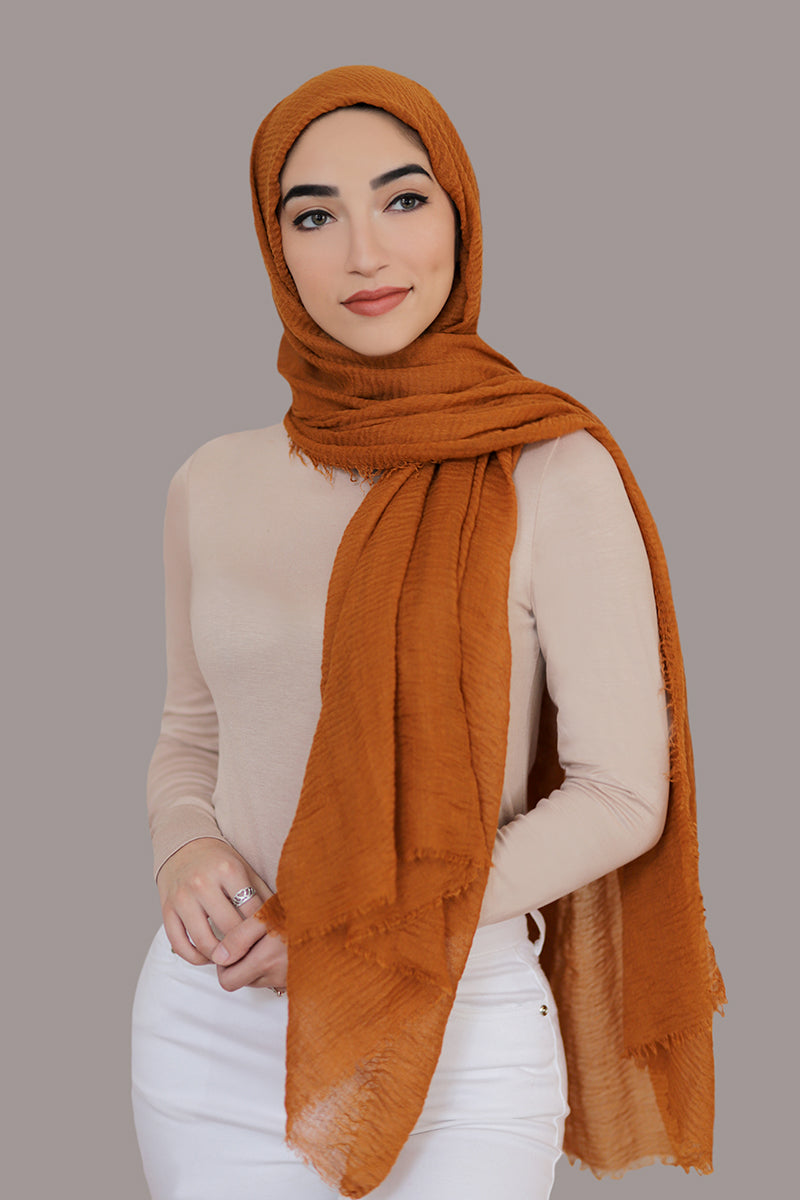 Premium Cotton Light Hijab-Copper