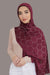 Silver Studded Jersey Hijab-Maroon