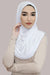 Shimmer Instant Jersey Hijab-White