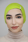 Jewel Pleat Bonnet-Light Green