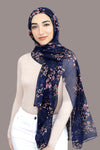 Field Of Dreams Light Hijab-Navy