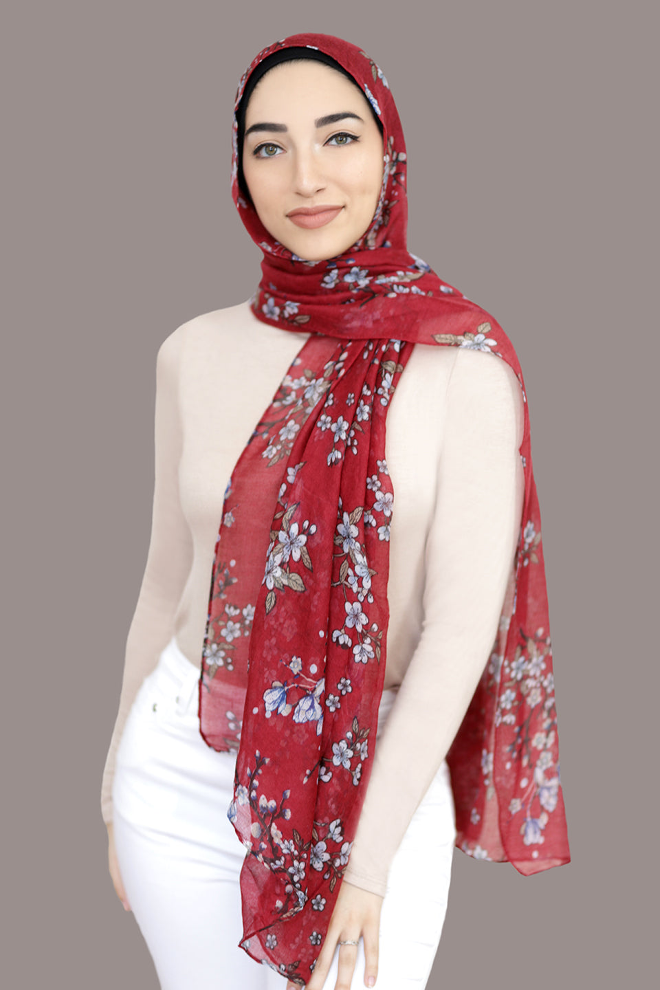 Field Of Dreams Light Hijab-Red