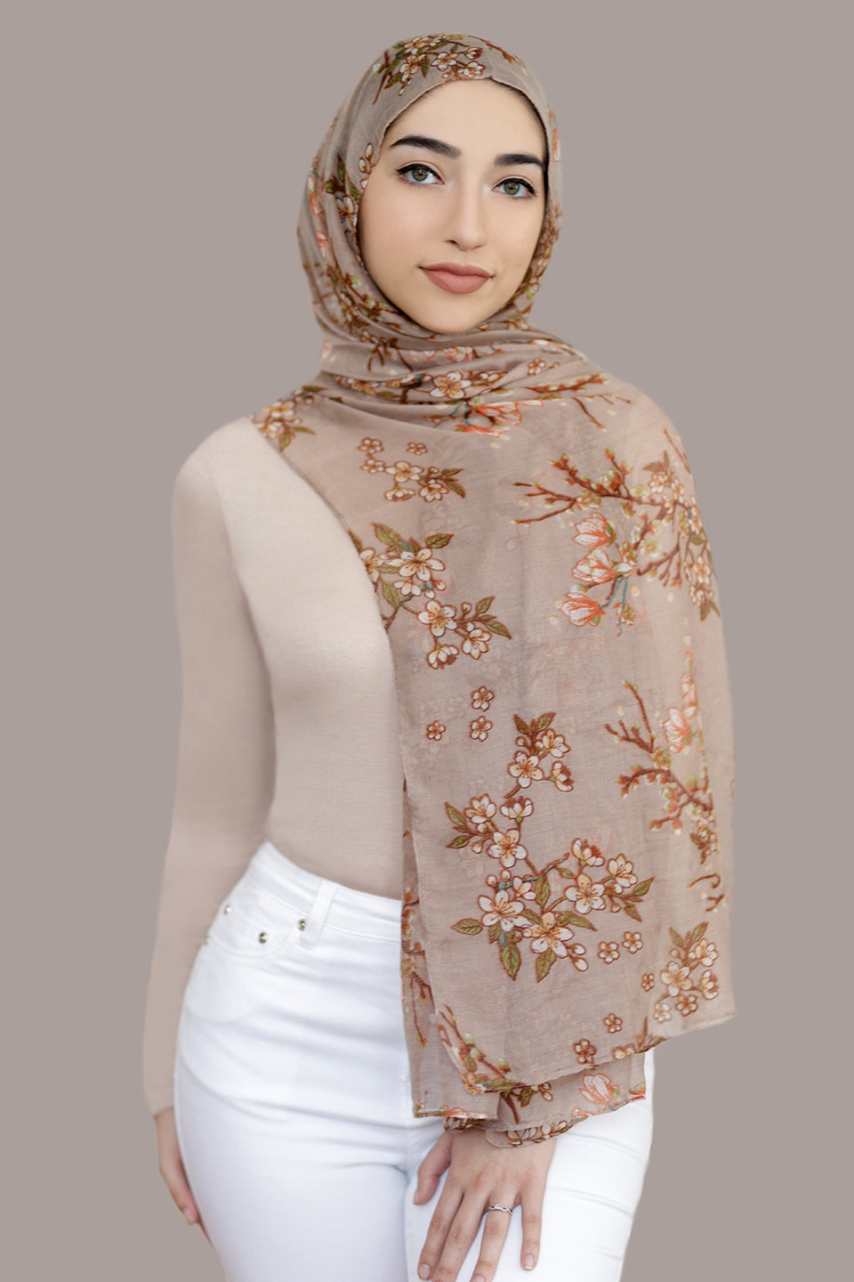 Field Of Dreams Light Hijab-Tan