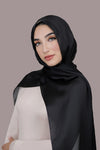 Silky Satin Hijab-Black