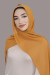 Basic Size Chiffon Hijab-Honey