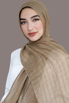 All Boxed Up Light Hijab -Taupe