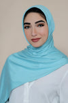 Luxury Jersey Hijab-Baby Teal