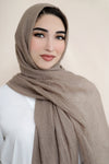 Premium Cotton Light Hijab-Sand