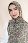 Wildflower Chiffon Hijab-Green