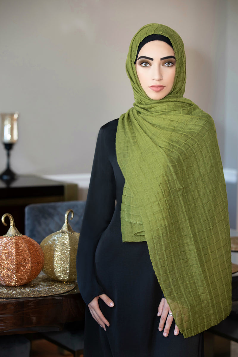 All Boxed Up Light Hijab-Olive