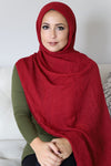 Premium Cotton Light Hijab-Maroon