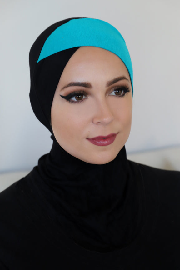 Criss Cross Ninja Underscarf-Black Blue