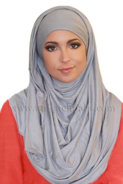 Maxi Jersey Hijab-Light Grey