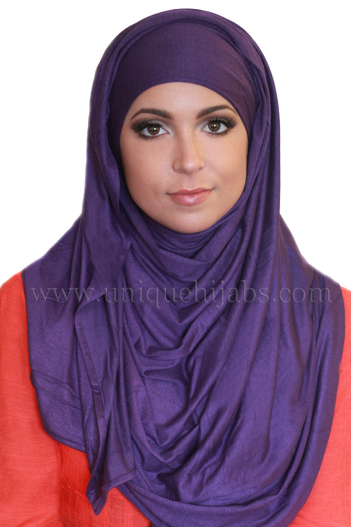 Maxi Jersey Hijab-Dark Purple