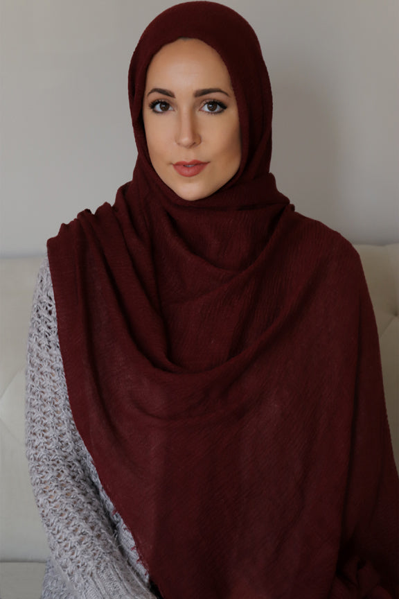 Premium Cotton Light Hijab-Plum