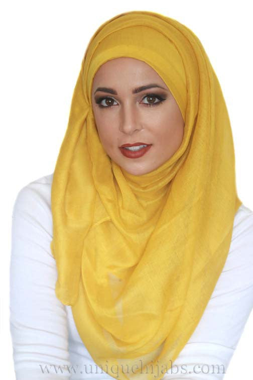 Light Maxi Hijab Luxury-Mustard