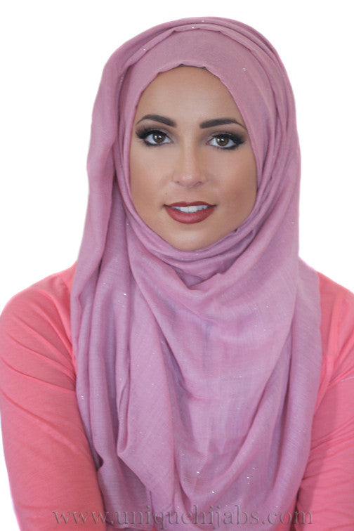 Gold Dust Light Hijab-Mauve