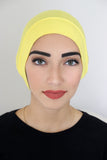 Bonnet Underscarf-Yellow