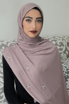 PEARL JERSEY HIJAB-Dusty Rose