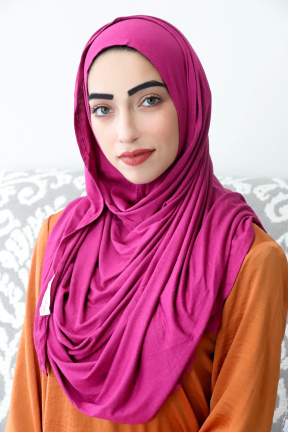 Magenta Instant Jersey Hijab