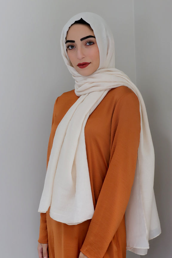 Luxury Viscose Light Maxi Hijab -Beige