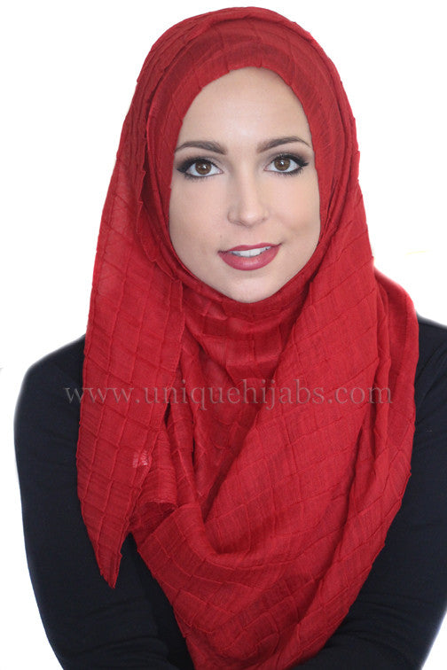 All Boxed Up Light Hijab-Red