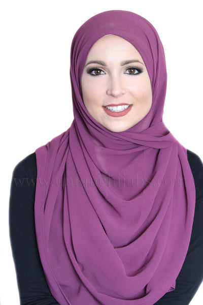 Basic Chiffon Hijab-Purple