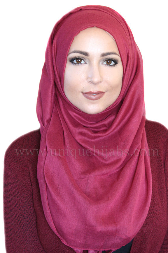 Luxury Light Maxi Hijab-Magenta