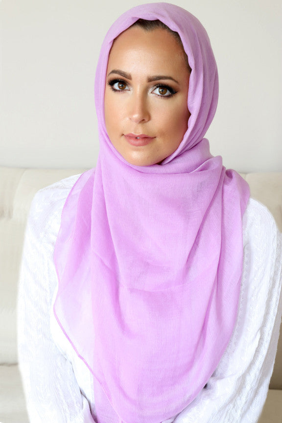 Luxury Light Maxi Hijab-Lilac