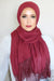 Lace Edge Light Hijab-Maroon