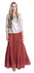 Marsala Sunburst Skirt