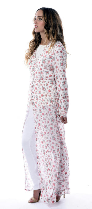 Azalea Floral Long Shirt