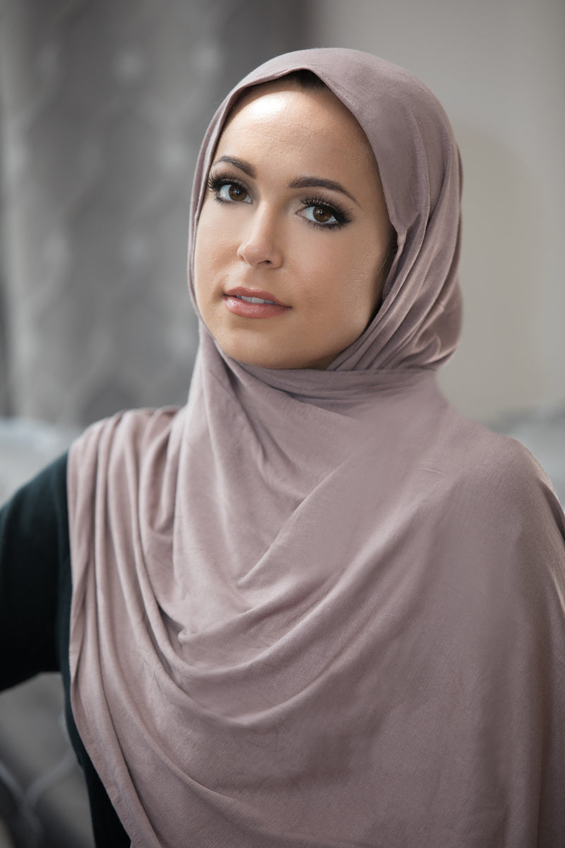 Luxury Jersey Hijab-Dusty Plum